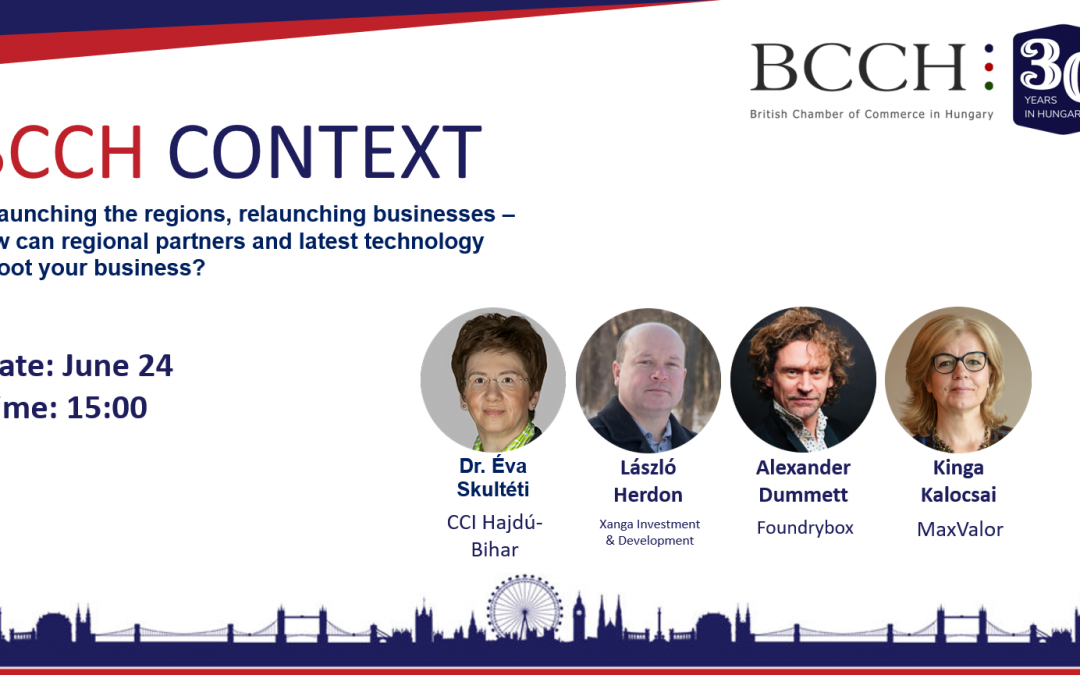 BCCH Context – Relaunching the regions, relaunching businesses